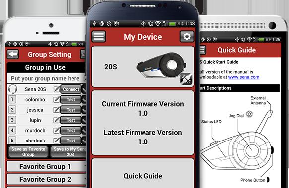 Sena  Smartphone App for the 20S